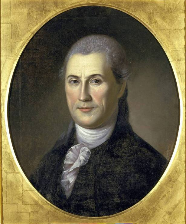 photo courtesy of Samuel Huntington Historical Trust This portrait was painted in 1783 by Charles Wilson Peale, when Samuel Huntington was 52. It's the only known portrait of Samuel Huntington. It hangs in the Charles Wilson Peale Gallery in Philadelphia. Samuel Huntington, it can be argued, was this first president of the United States. This is because Huntington was president of the Continental Congress when the Articles of Confederation were ratified on March 1, 1781, the document that created the new nation –– officially known at the time as the United States of Congress Assembled.